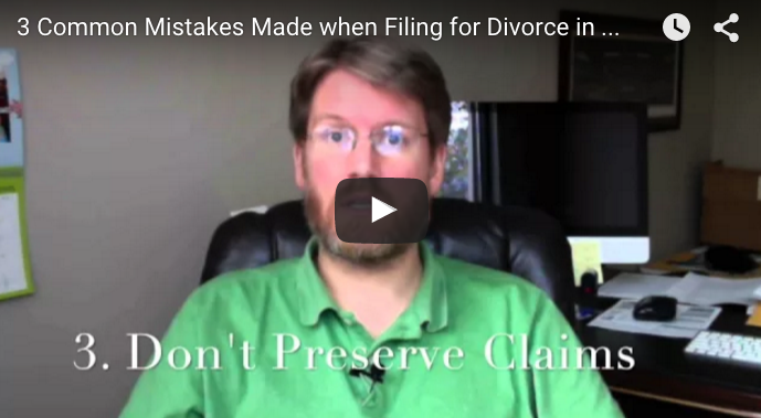 3 Common Mistakes People Make when Filing their own Divorce